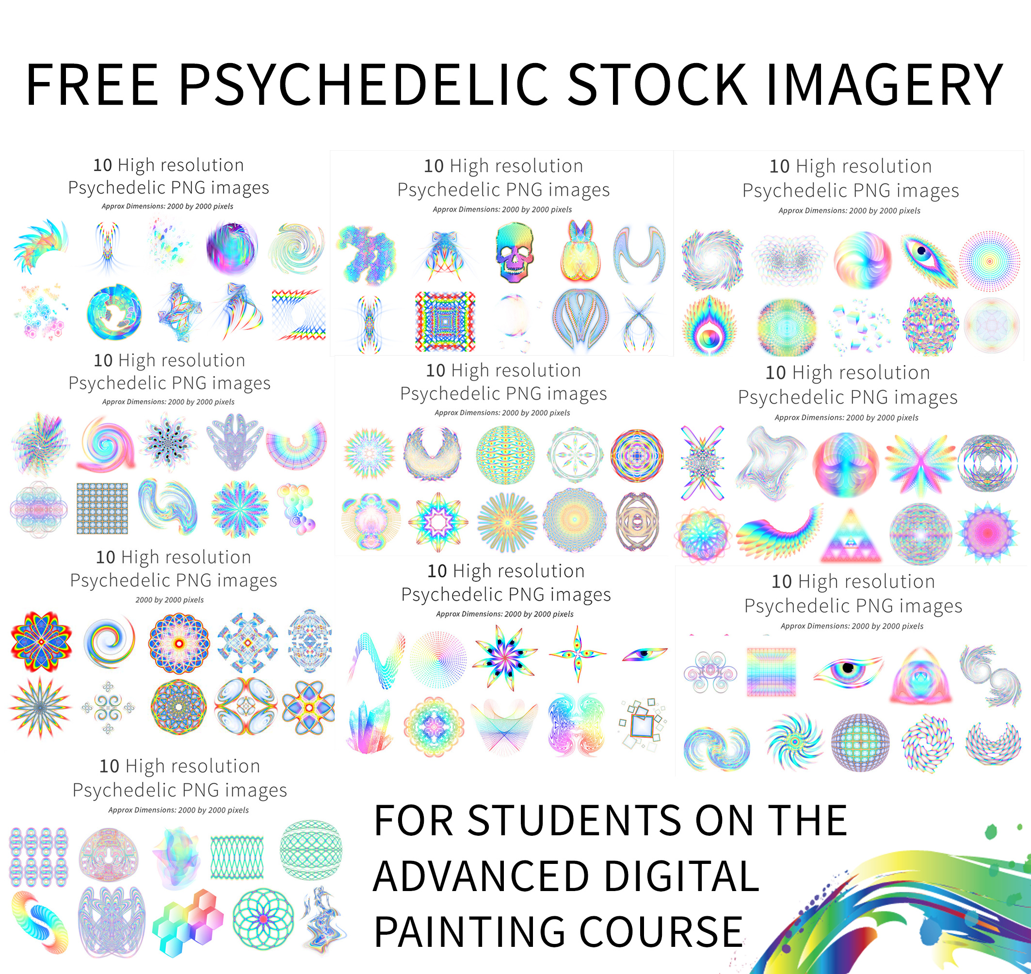 Free psychedelic stock imagery - Digital Visionary Art: www.digitalvisionaryart.co.uk/free-psychedelic-stock-imagery